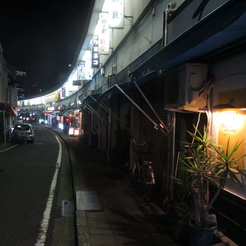 普段の都橋商店街