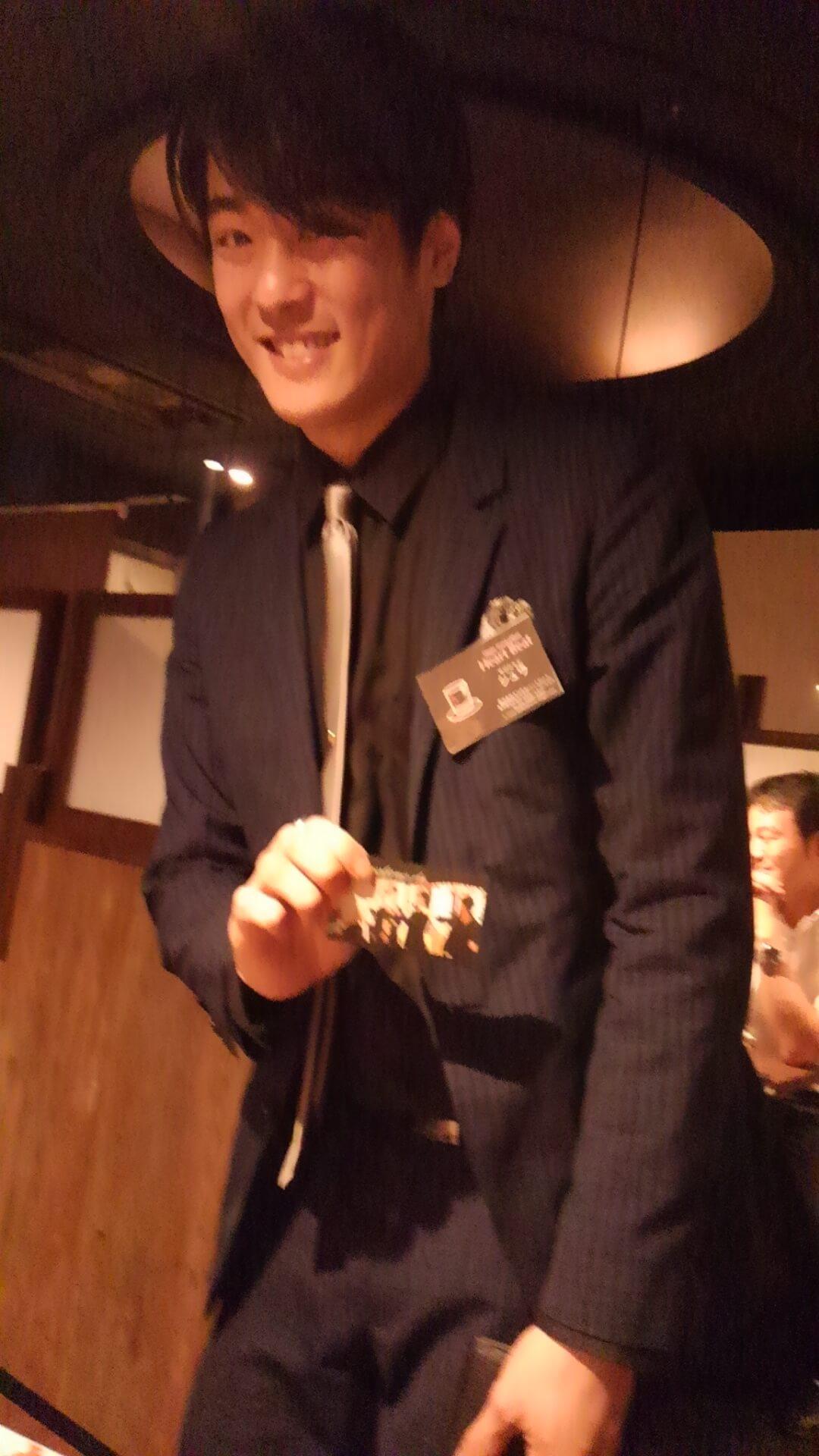 相席屋銀座コリドー店に営業に来ていたマジシャン