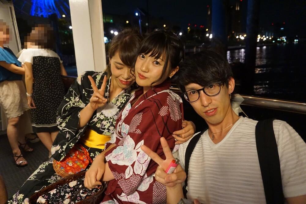 東京湾クルージングフェスの女性たち