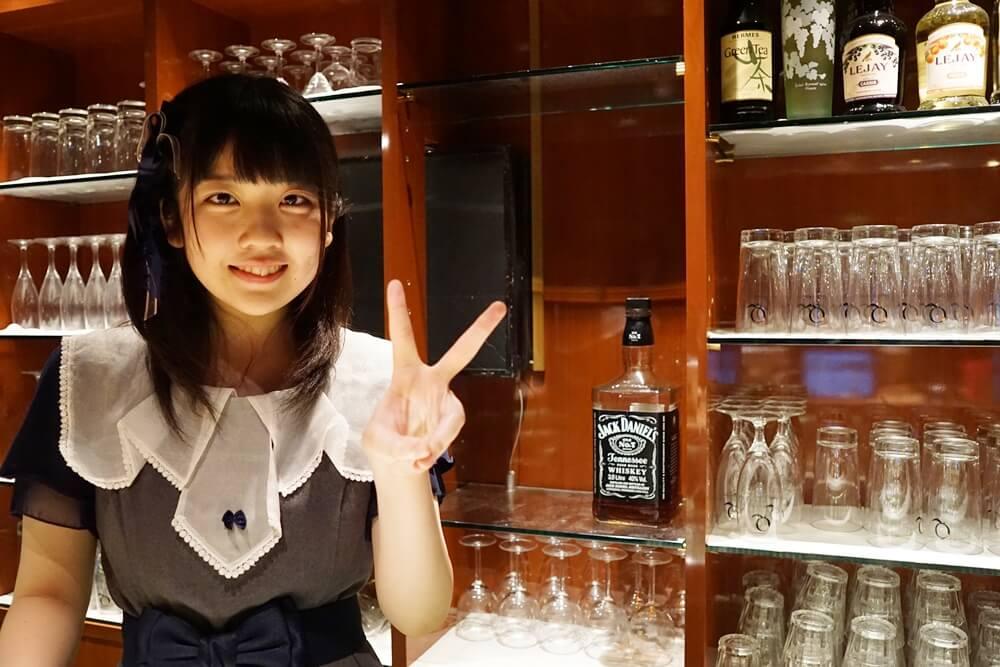 カウンターに立っていたのは池田杏菜(池ちゃん)。