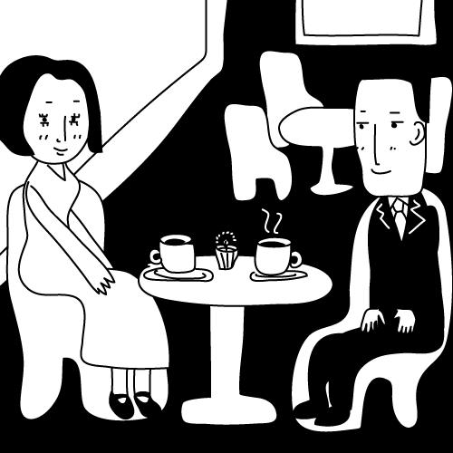 ホテルのカフェでお見合い