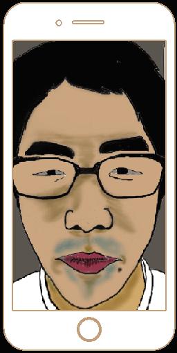 【NG写真例】画面いっぱいに顔