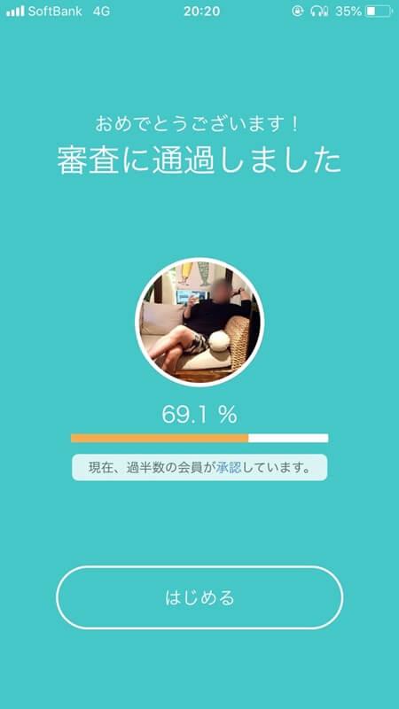 審査通過!69.1%