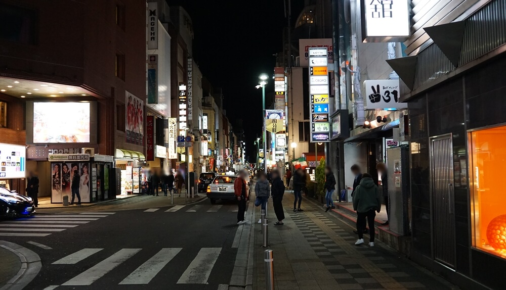仙台の夜。国分町は眠らない街のようだ。