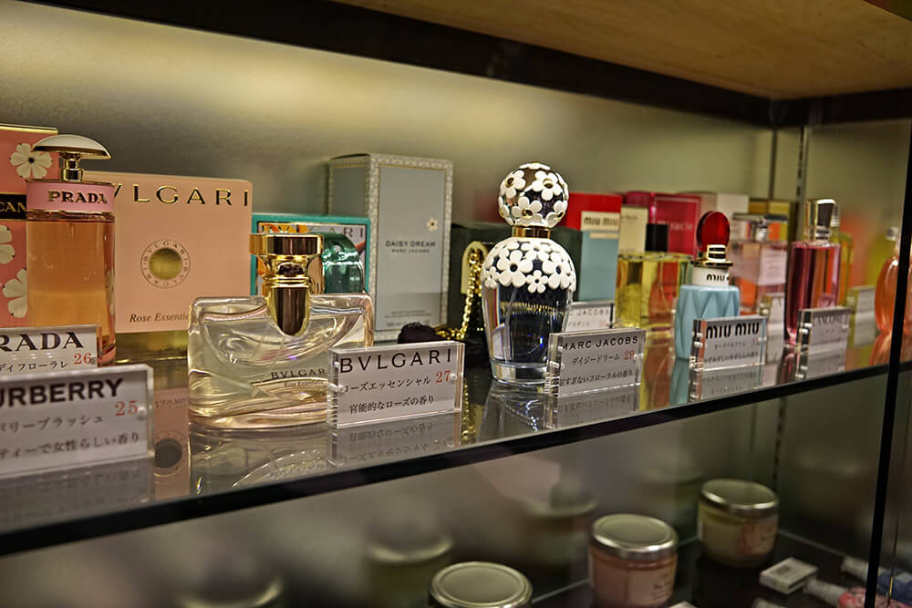 有名ブランドの香水。これらが無料で利用できる。
